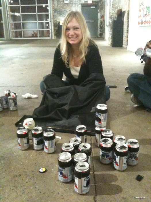 Angela beer cans