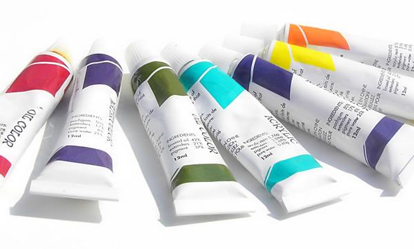 Oil-paint-tubes