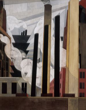 Charles Demuth - End of the Parade: Coatesville, Pa. - 1920