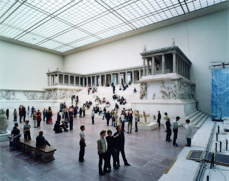 "Thomas Struth, ""Pergamon Museum I, Berlin, 2001 C-print, face mounted on plexiglass in artist's frame"