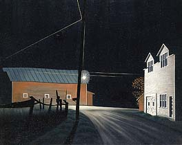 "George Ault, ""Birght Lights at Russell's Corners"" 1946"