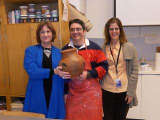 StokesRatinoffKelley holding Deborah's pot