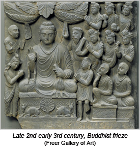 Late 2nd-early 3rd century, Buddhist frieze (Freer Gallery of Art)
