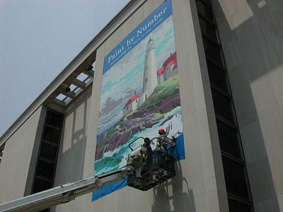 Paint By Number Banner on the NMAH