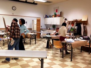 Studio Art Big Classroom with class in session