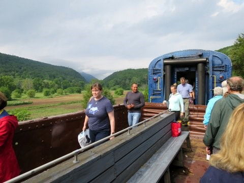 Walking on the gondola car