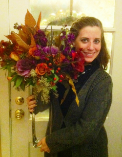 Jenna with Flowers