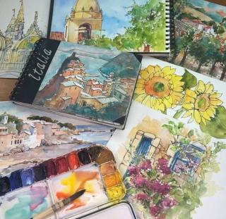 Watercolor variety