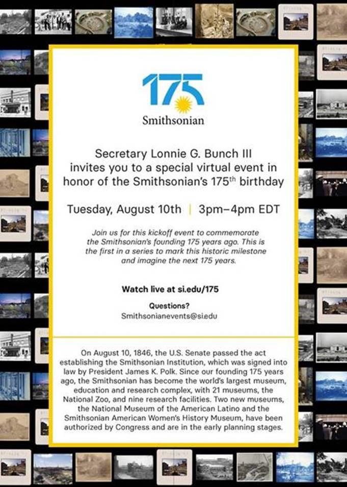 175th Anniversary Bday Event