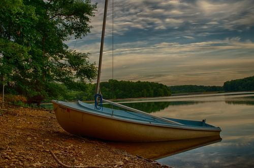 Sailboat in Triadelphia Reservoir in HDR